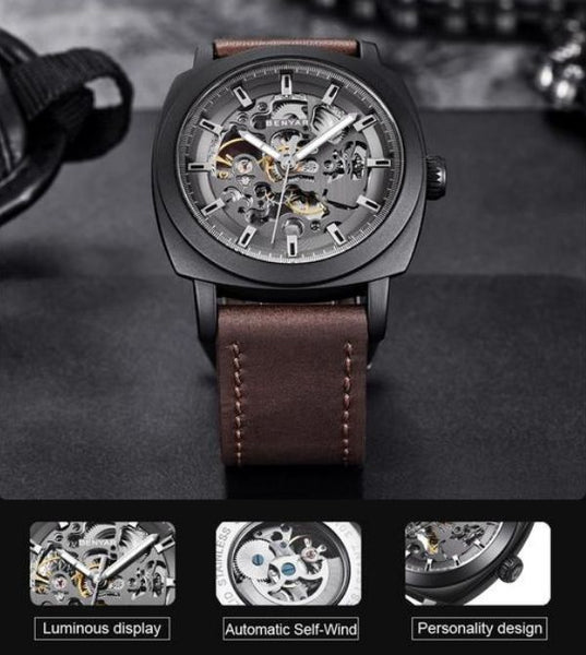 Venal Skeleton Mechanical Watch function