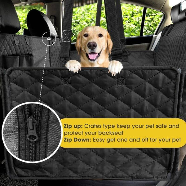 Waterproof Dog Car Seat Cover With Zipper