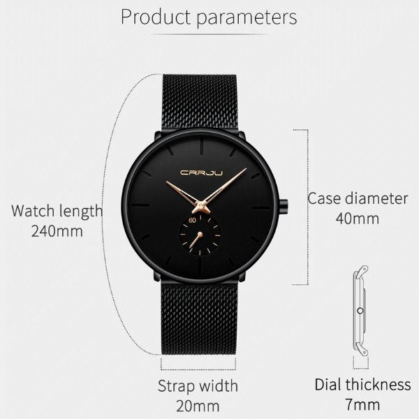 Finiera Ultra Thin Dress Watch product parameters