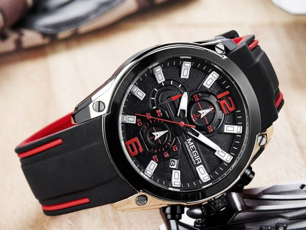 black storm military sports silicone watch