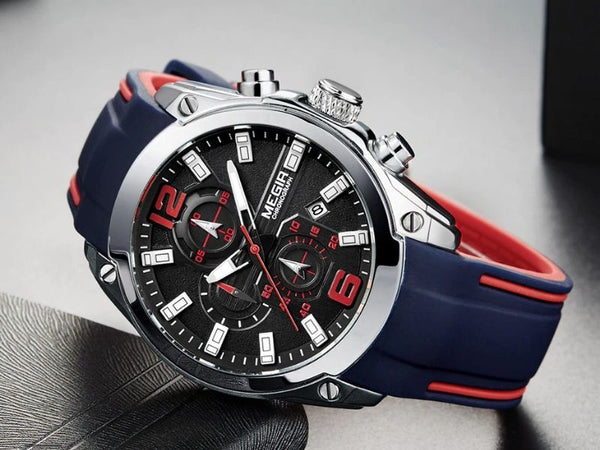 blue storm military sports silicone watch