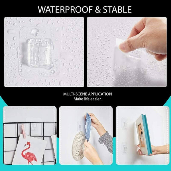 double-sided adhesive wall hooks waterproof