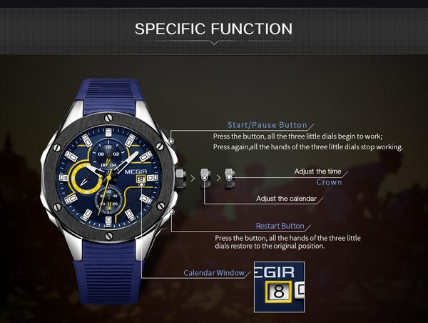 Capture Men's Military Fashion Waterproof Sport Watch - Function