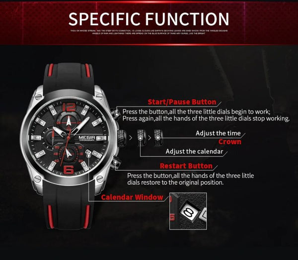 storm military sports silicone watch specific function