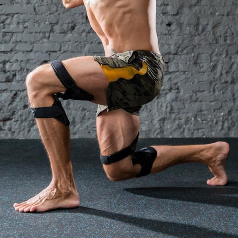 the men wear the Power Knee Stabilizer Pads