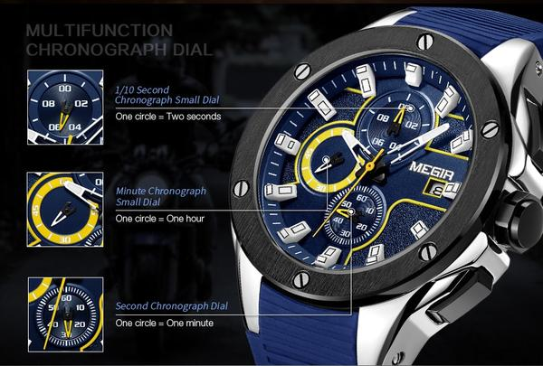 Capture Men's Military Fashion Waterproof Sport Watch - Detail Function