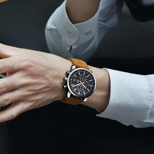 Man wearing Grandio Chronograph Watch on wrist
