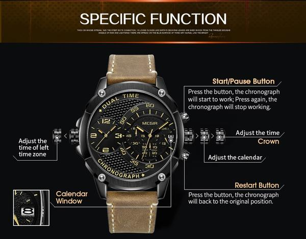 Explosive Fashion Military Watch Function