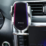 Automatic Clamping Wireless Car Charger Mount Silver