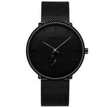 Load image into Gallery viewer, Finiera Black Steel Mesh Watch - Black