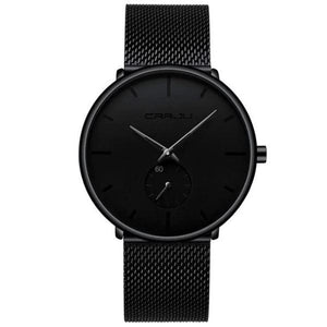 Finiera Ultra Thin Dress Watch with black markers in white background