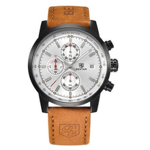 Load image into Gallery viewer, Grandio Chronograph Watch with black and white dial