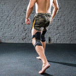 men wear the Power Knee Stabilizer Pads