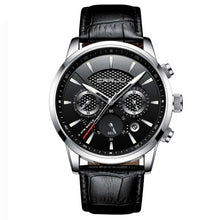 Load image into Gallery viewer, Front image silver-black Magent Men's Analog Quartz Wrist Watch in white background