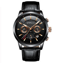Load image into Gallery viewer, Front image black-gold Magent Men's Analog Quartz Wrist Watch in white background