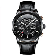 Load image into Gallery viewer, Front image black Magent Men's Analog Quartz Wrist Watch in white background