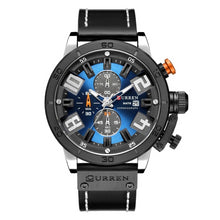 Load image into Gallery viewer, Numezo Men's Fashion Leather Watch - Blue