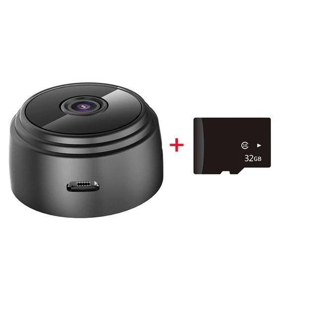 Black Mini Spy Wifi Camera with card 32G