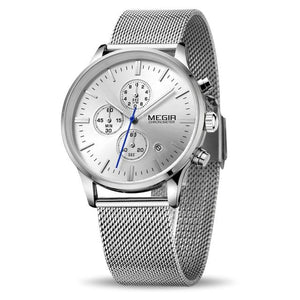 Front Image Silver Color Veran Stainless Steel Quartz Watch in  white background