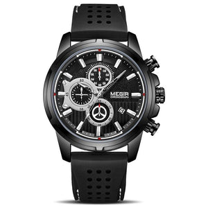 black color Mersel Silicone Fashion Watch in white background