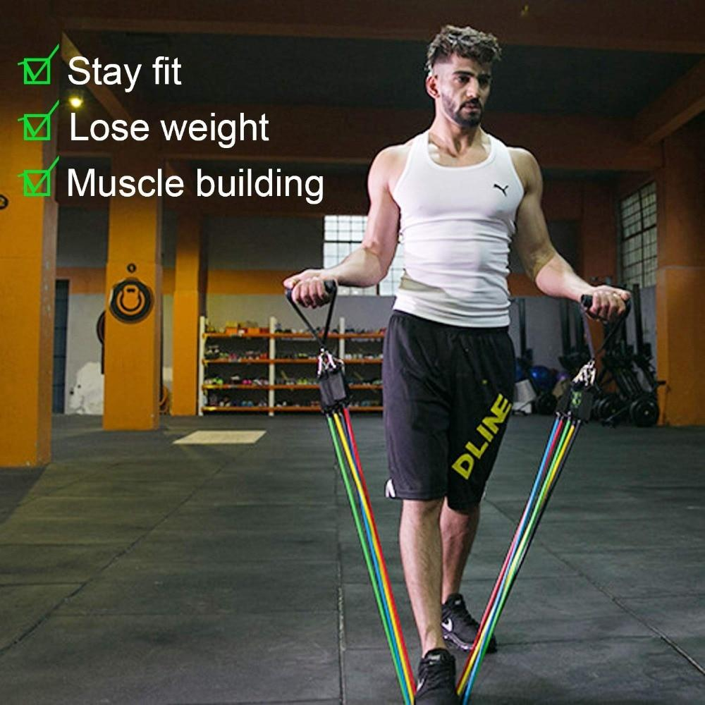 11Pcs Resistance Band Set - Fitness Workout