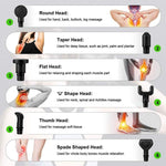 how to use the 6 heads Handheld Deep Tissue Massager