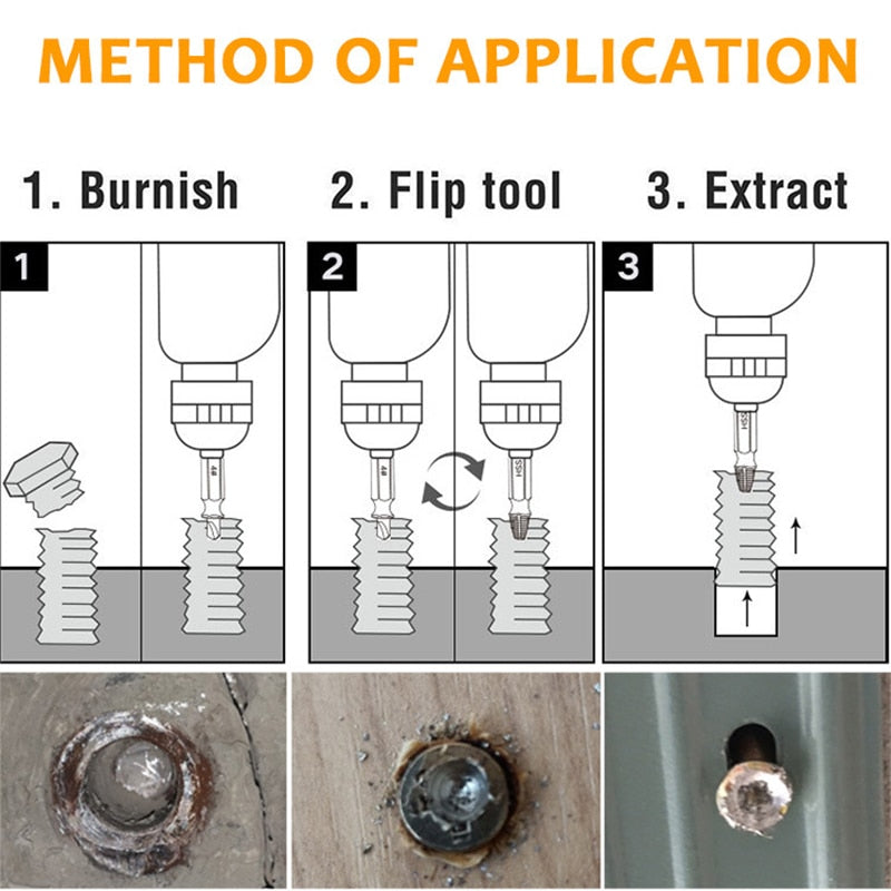Damaged Screw Extractor Kit