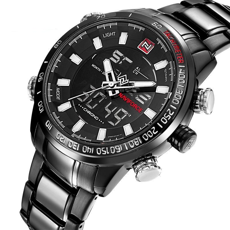 Steel Military Stainless Steel Digital Watch
