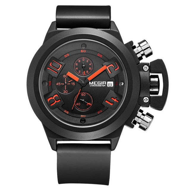 Crown Military Chronograph Watch black