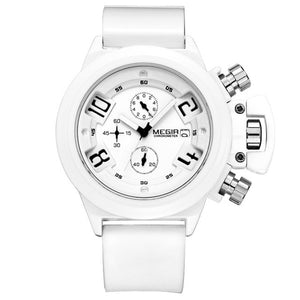 Crown Military Chronograph Watch white