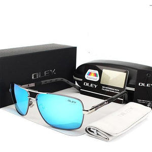 Oley Polarized Square Vintage Sunglasses