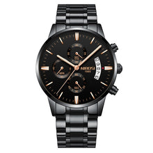 Load image into Gallery viewer, Brons Men's Chronograph Stainless Steel Watch - Black