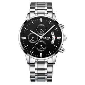 Brons Men's Chronograph Stainless Steel Watch - Silver
