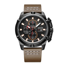 Load image into Gallery viewer, Delta Mens Leather Band Quartz Military Watch