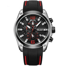 Load image into Gallery viewer, Front image Storm Military Sports Silicone Watch with black silicone strap in white background