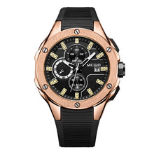 Load image into Gallery viewer, Capture Men's Military Fashion Waterproof Sport Watch - Black Rose Gold