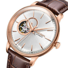 Load image into Gallery viewer, MEGIR Rose Gold SEKIO NH38A Calibre Movement