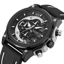 Load image into Gallery viewer, Front image Miler Men's Chronograph Quartz Watch with white markers in white background