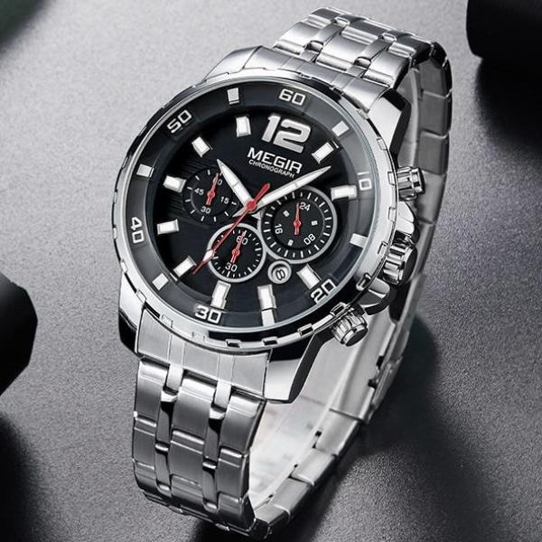 Epic Chronograph Stainless Steel Band Watch