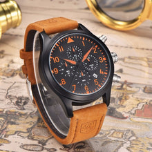 Load image into Gallery viewer, Pilot Military Leather Strap Watch