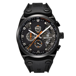Arsenal Men's Military Black Silicone Watch - Black Case