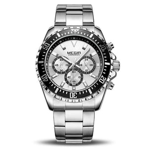 Front Image Barsel Chronograph Gents Watch with silver dial in white background