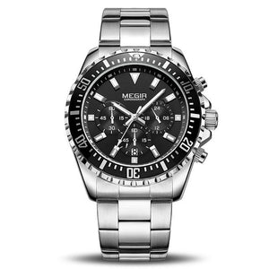 Front Image Barsel Chronograph Gents Watch with black dial in white background