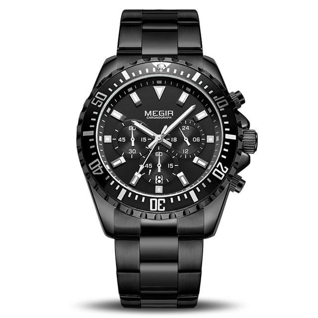 Front Image black Barsel Chronograph Gents Watch in white background