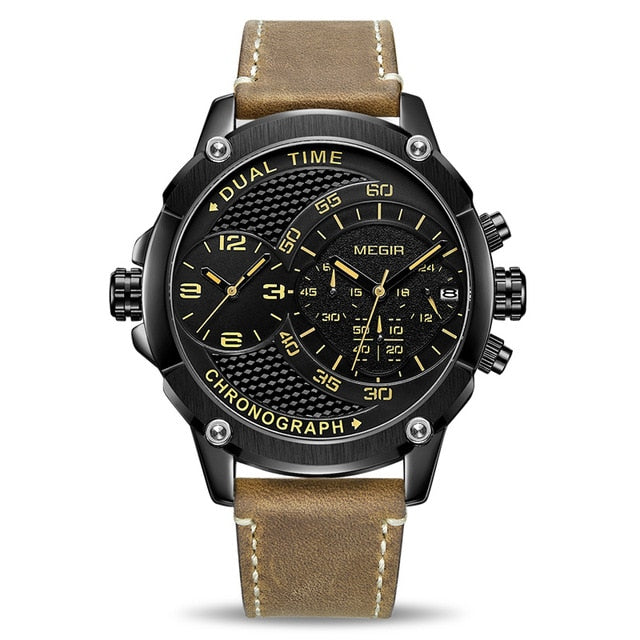 Explosive Military Dual Time Zone Watch