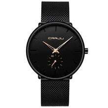 Load image into Gallery viewer, Finiera Black Steel Mesh Watch - Rose-Gold