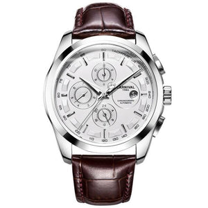 Front image silver Royal Vintage Automatic Watch in white background