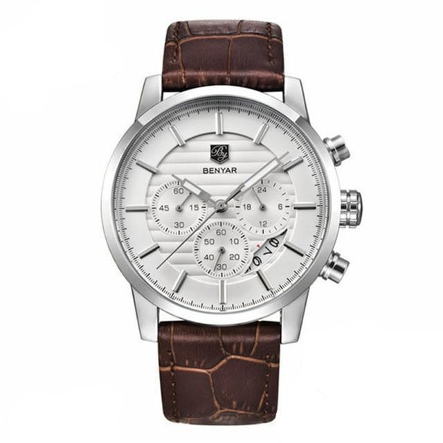 Benton Vintage Quartz Chronograph Watch - Silver
