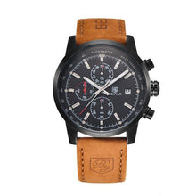 Load image into Gallery viewer, Grandio Men's Chronograph Watch Leather Strap