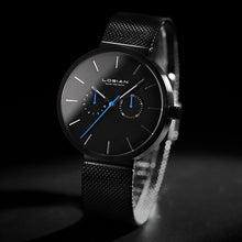 Load image into Gallery viewer, Bluer Black Stainless Steel Watch